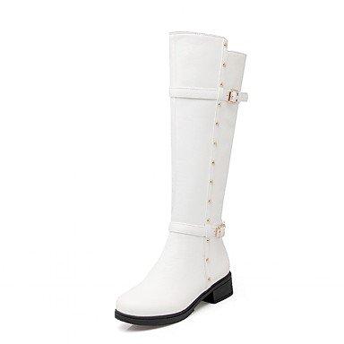 Stivali da donna Primavera/Autunno/winterheels/Piattaforma/Cowboy/stivali da cowboy/Stivali da neve, white-us6/eu36/uk4/cn36, white-us6/eu36/uk4/cn36