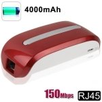 150Mbps Mobile Power 3G Wifi Router with 4000mAh Mobile Power Bank (Red)