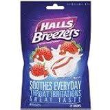 Halls Fruit Breezers Creamy Strawberry