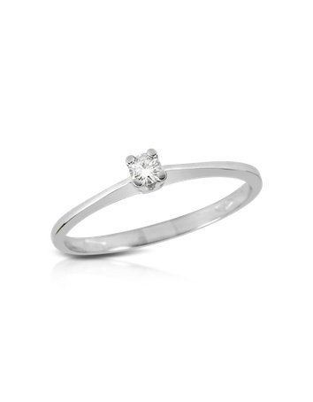 Forzieri 0.04 ct Prong-Set Diamond Solitaire Ring USA 7 | IT 14 | UK N