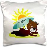 susans-zoo-crew-beach-bear-on-beach-sun-umbrella-sand-16x16-inch-pillow-case