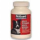 Multi-Vitamin/Multi-Mineral Supplement For Dogs Pet Guard 50 Tabs