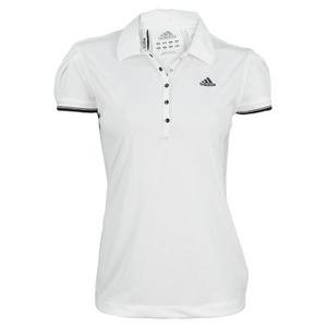 ADIDAS Women`s Response Classics Traditional Tennis Polo--SMALL