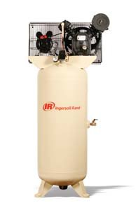- Ingersoll Rand Type-30 Reciprocating Air Compressor - 5 Hp, 230 Volt 1 Phase, Model# 2340L5-V