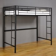 Twin Premium Metal Loft Bed ~ Black ~ College