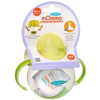 mOmma Spill Proof Cup with Dual Handles, 6m+ Green