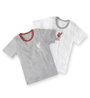 2 Pack Pure Cotton Liverpool Football Club Vests