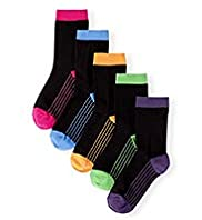 5 Pairs of Freshfeet™ Cotton Rich Dotted Socks