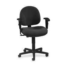 Lorell Adjustable Task Chair, 24 by 24 by 33-Inch to 38-Inch, Black