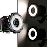 Neewer® R-160 160 Pieces 5600K 10W Mini LED Macro Ring Light with 6 Adapter Rings (49mm/52mm/55mm/58mm/62mm/67mm)for Macro Canon/Nikon/Sony/Sigma/Tamron Lens