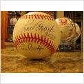 * LOU BROCK / BING DEVINE / ERNIE BROGLIO * Stl. Cardinals signed MLB baseball
