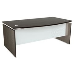 ** SedinaAG Series Bow Front Desk Shell, 72w x 42d x 29-1/2h, Espresso **