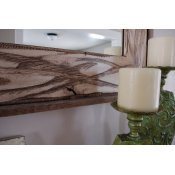 18x26 Rustic Denali Antique White Heavily Distressed Wood Mirror 3