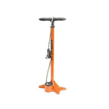 Serfas Bicycle Floor Pump with Gauge - Orange - FMP-500O