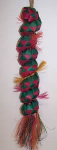 Planet Pleasures Caterpillar 18in Large Bird Toy Assorted Colors