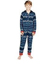 Hooded Fair Isle Sweat Onesie