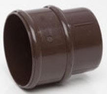 POLYPIPE RR125 BROWN Pipe Connector for Round gutter Downpipe 68mm