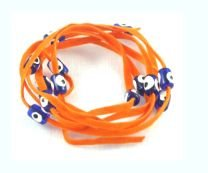 Lucky Charms USA Evil Eye Lucky String Wrap Bracelet with Colorful Lucky Eyes - Happiness Orange