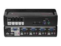 Switchview MM1 4 Port PS/2 USB KVM Switch USB 1.1 Hub with Audio