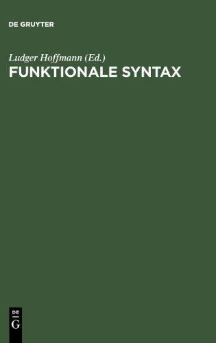 Funktionale Syntax. Die pragmatische Perspektive: Die Pragmatische Perspektive