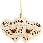 Two Hearts, One Love Ornament by Lenox
