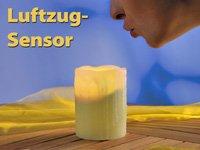 LED Echtwachskerze mit An/Aus Pust Funktion