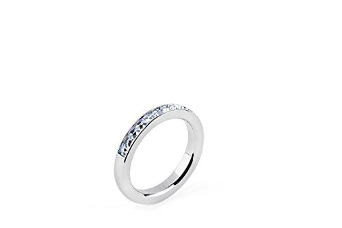 Brosway - LIBERTA' - Anello TRING mis.16 acciaio e swarovski light sapphire BTGC53C