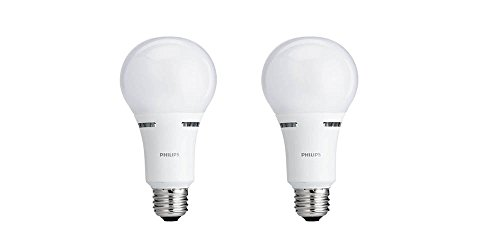 Philips 459180 40/60/100W Equivalent 3-Way A21 LED Light Bulb (2 Pack)