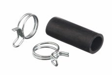00088403 Bosch Dishwasher Drain Hose Adapter (Black)-With Clamps (Bosch Dishwasher Hose compare prices)