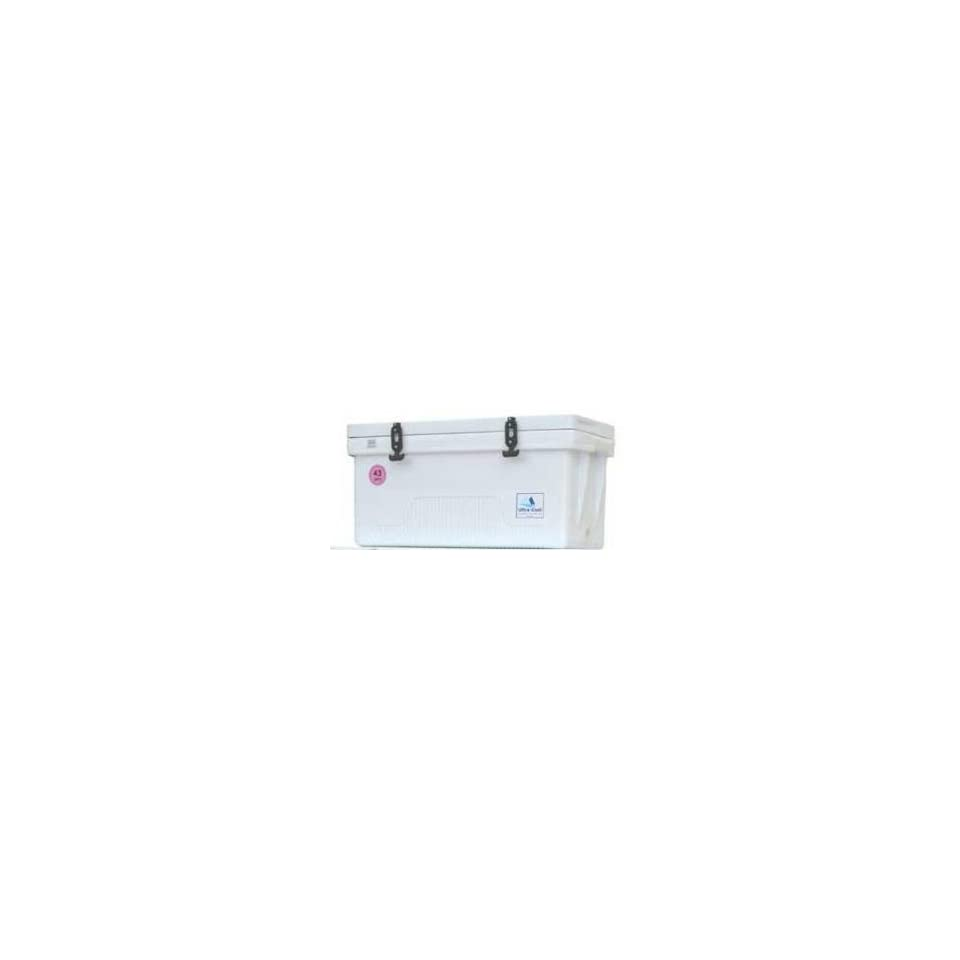 Ultra Cool Ice Boxes Premium Ice Box 43 Quart Long White 33x13x15 #UC43PL
