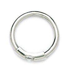 14k White Gold CZ 14 Gauge Circular Body Piercing
