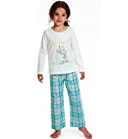 Pure Cotton Tatty Teddy Checked Pyjamas