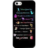 5s Case,iPhone 5 Case,Peter Pan Quotes Never grow up Black Soft Rubber TPU iPhone 5 Scratch-Resistant Protective Case (Peter Pan Iphone Case compare prices)