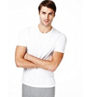 2 Pack Cool & Fresh™ Stretch Cotton Crew Neck Vests with StayNEW™