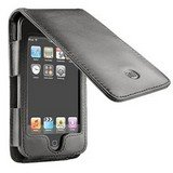 DLO HipCase Folio-Style Case for iPod Touch - Dark Brown with Orange Stripe
