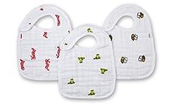 aden + anais 3 Pack Muslin Snap Bib, Mod About Baby
