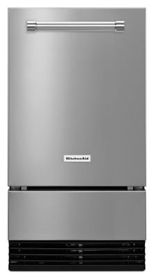 KitchenAid Automatic Ice Maker 18-Inch,35 lbs,Grey  Stainless Steel(No Pump) Gravity Drain KUID308ESS (Kitchenaid Ice Maker compare prices)