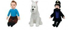TY Beanie Babies - The Adventures of Tin Tin Set of 3 TIN TIN - SNOWY the Dog and CAPTAIN HADDOCK