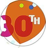 30th The Big Day Wall Decoration (Balloons) - Each