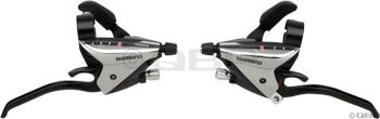 Shimano EF65 3 x 7 Speed Brake/Shift Levers Silver