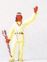 American Indian w/Rifle Male HO Preiser Models