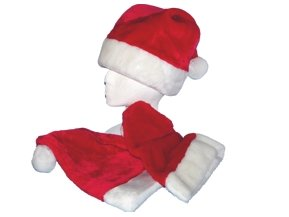 Child's Size Plush Santa Claus Hat (1) by HSC