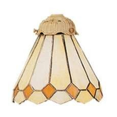 Landmark Lighting 999-05 Aged Gold Diamond Tiffany Single Replacement Shade from the Diamond Collection