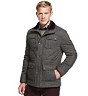 Blue Harbour Wool Rich Quilted Coat