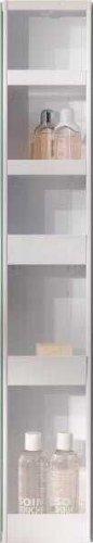 4001070101884 Badspiegel-Drehschrank, 15 x 20 x 95 cm, metall, weiß