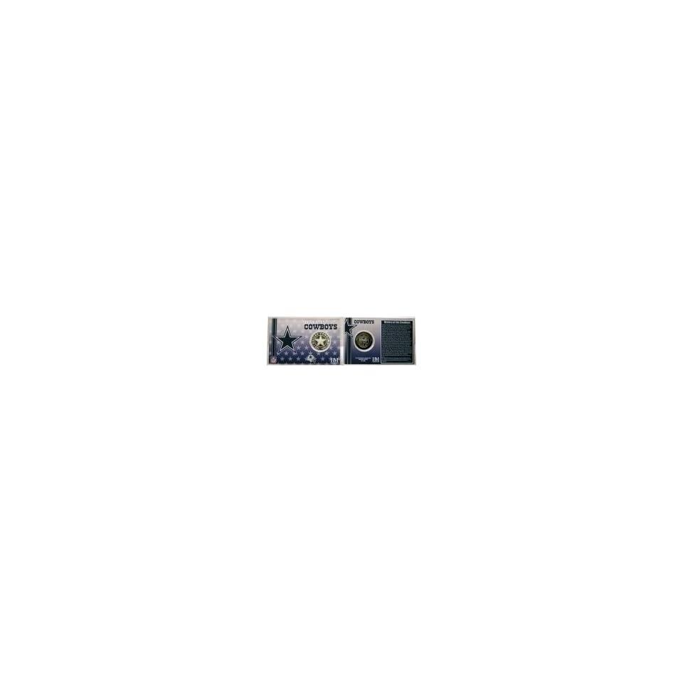 Dallas Cowboys NFL Team History Coin Card