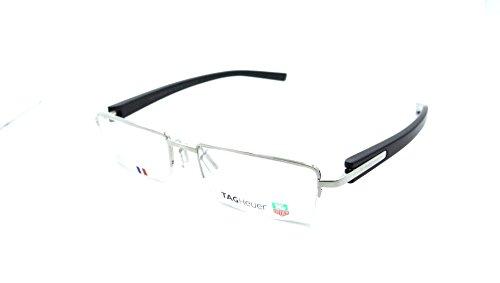 Tag Heuer Trends Rx Eyeglasses Frames Th 8203 007 53x18 Silver / Carbon Fiber