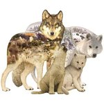 Cheap Fun Sunsout Wolf Song Shaped 1000 Piece Jigsaw Puzzle (B00064SAQ6)