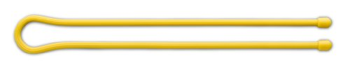 Nite Ize GT24-2PK-16 Gear Tie Reusable 24-Inch Rubber Twist Tie, 2-Pack, Yellow (Ski Organizer For Car compare prices)