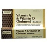 Vitamin A and Vitamin D Ointment Tube For Diaper Rash - 2 Oz - 1